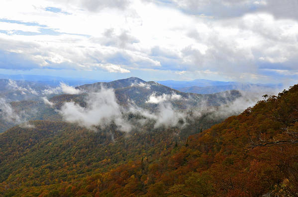 Mountains Print featuring the photograph Majestic Autumn by Susan Leggett