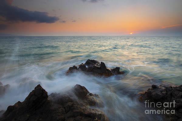 Maui Art Print featuring the photograph Maui Tidal Swirl by Mike Dawson