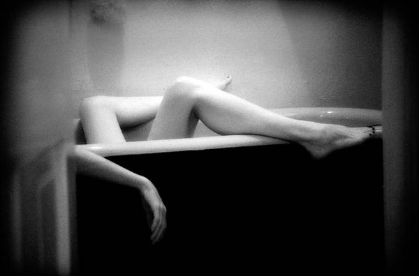Female Nude Art Print featuring the photograph Melting by Lindsay Garrett