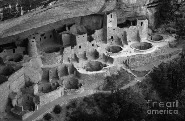 Mesa Verde Art Print featuring the photograph Mesa Verde Monochrome by Bob Christopher