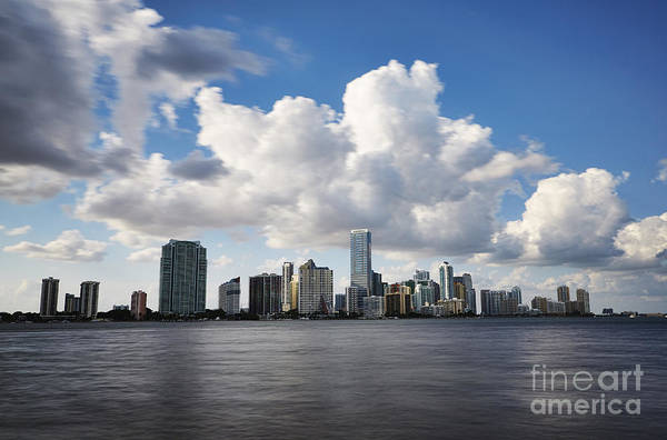 Slow Shutter Art Print featuring the photograph Miami Downtown In Slow by Eyzen M Kim