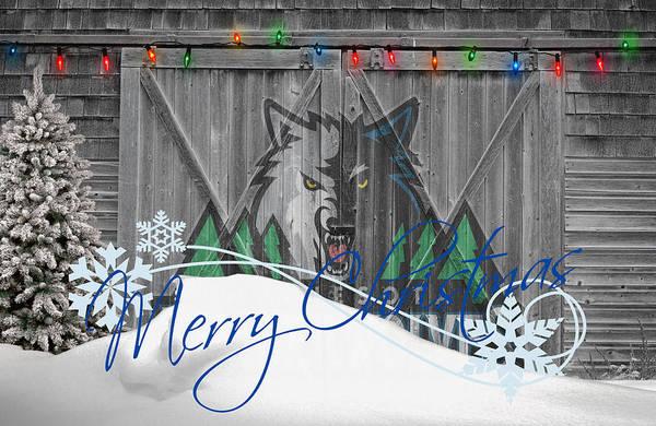 Timberwolves Art Print featuring the photograph Minnesota Timberwolves by Joe Hamilton