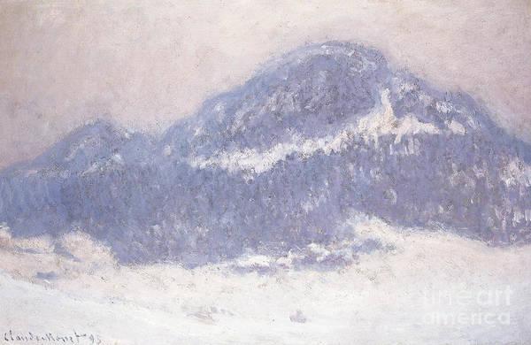 Claude Monet Art Print featuring the painting Mont Kolsaas by Claude Monet