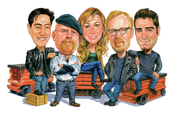 Mythbusters Art Print featuring the painting Mythbusters by Art