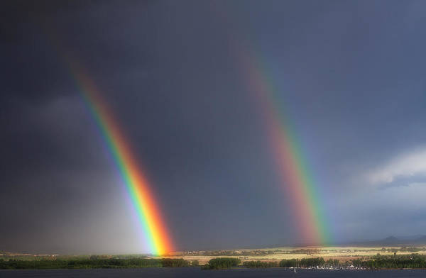 Rainbows Art Print featuring the photograph Natures Twin Towers by Darren White