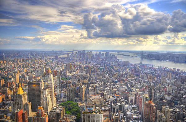 Hdr Art Print featuring the photograph New York State Of Mind by Mandy Wiltse