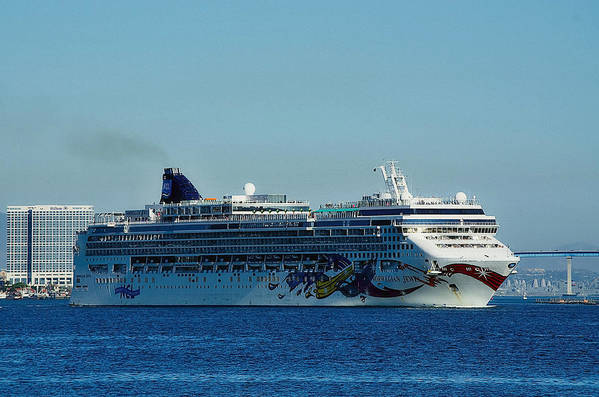 Norwegian Jewel Art Print featuring the photograph Norwegian Jewel by See My Photos