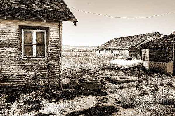 Old Farm House Print featuring the photograph Old Farm by Baywest Imaging