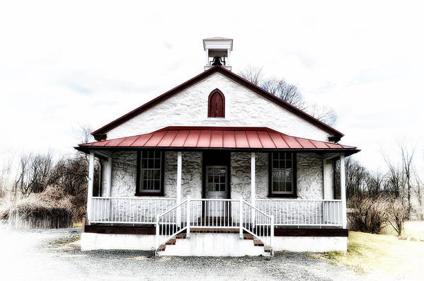 Old Art Print featuring the photograph Old Schoolhouse Chester Springs by Bill Cannon