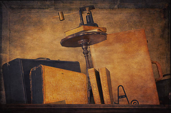 Old Luggage Art Print featuring the photograph Old Things Il by Maria Angelica Maira