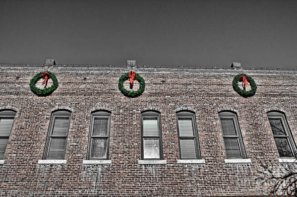 Old Town Art Print featuring the photograph Old Town Christmas by Baywest Imaging