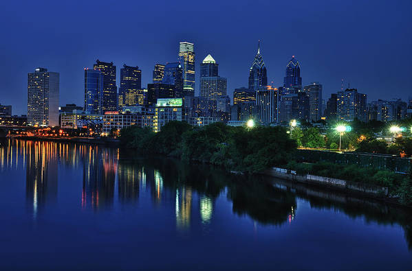 Philadelphia Print featuring the photograph Philly Skyline by Mark Fuller
