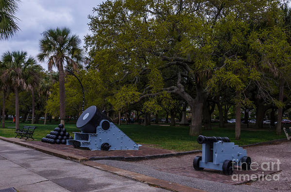 Cannon Art Print featuring the photograph Protect The Battery by Dale Powell