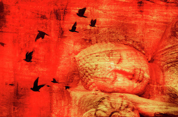 Tranquility Art Print featuring the photograph Reclining Buddha by Grant Faint