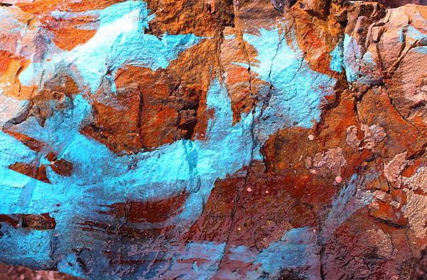 Rock Art Print featuring the photograph Rock Art 15 by M Diane Bonaparte