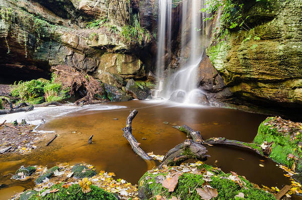 Northumberland Art Print featuring the photograph Roughting Linn Waterfall Pool by David Head