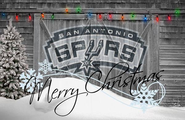 Spurs Art Print featuring the photograph San Antonio Spurs by Joe Hamilton