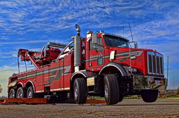 Santa Fe Tow >> Santa Fe Tow Kenworth Big Rig Tow Truck Art Print By Tim Mccullough