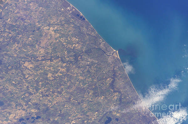 Michigan Print featuring the photograph Satellite View Of St. Joseph Area by Stocktrek Images