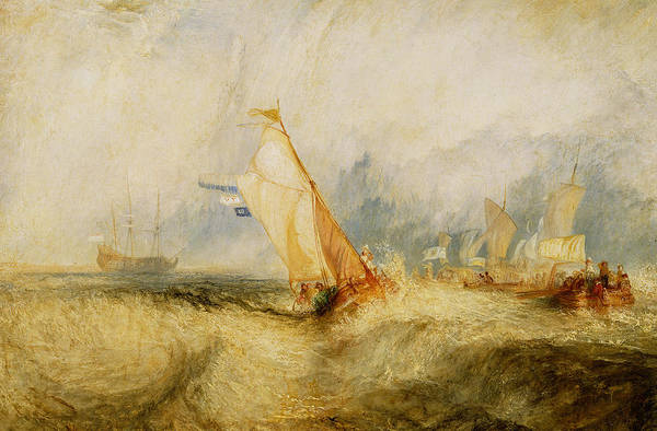 Boat Art Print featuring the painting Ships A Sea Getting A Good Wetting by Joseph Mallord