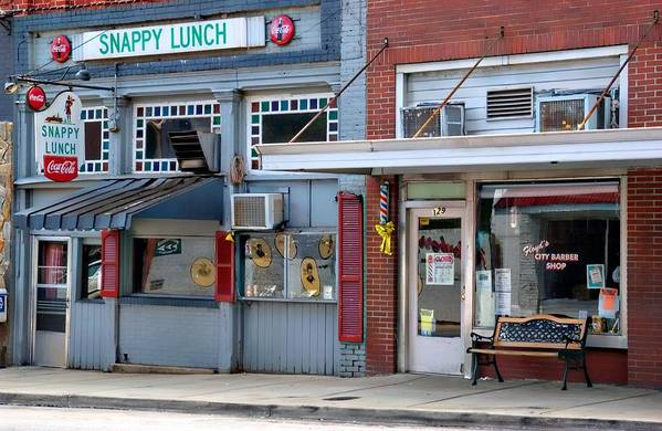 Snappy Lunch Art Print featuring the photograph Snappy Lunch And Floyd Nc by Bob Pardue