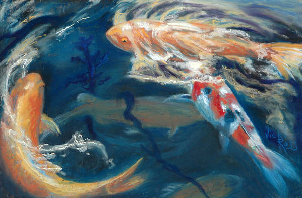 Koi Art Print featuring the painting So Koi by Vicki Ross