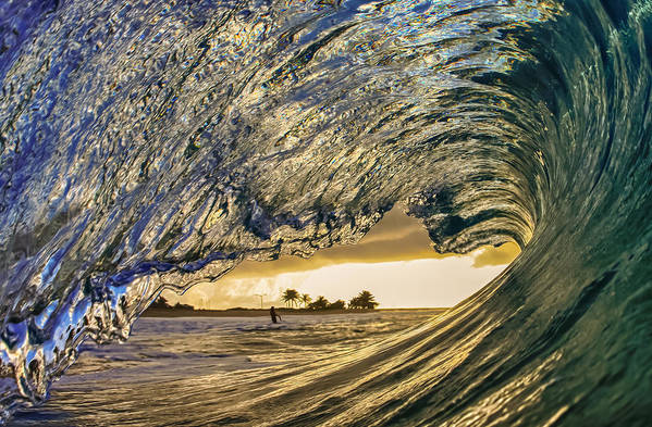 Surf Art Print featuring the photograph Solitary by Gregg Daniels