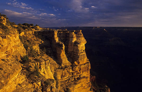 Grand Canyon National Park Art Print featuring the photograph South Rim Grand Canyon Taken Near Mather Point Sunrise Light On by Jim Corwin