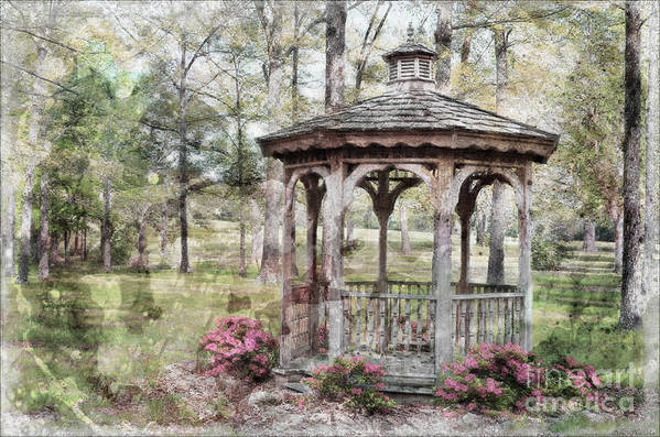 Nature Art Print featuring the photograph Spring Gazebo Painteffect by Debbie Portwood