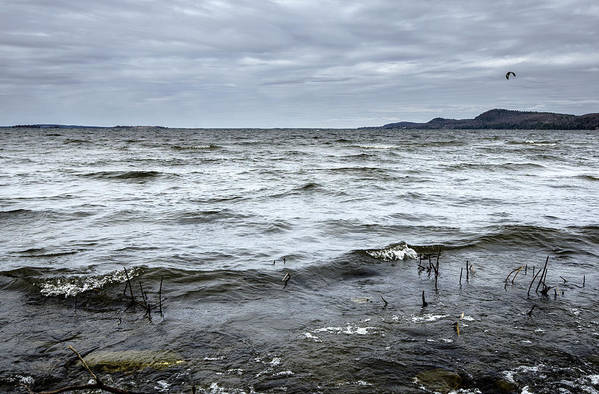 Color Art Print featuring the photograph Spring Storm On Lake Champlain by Arkady Kunysz