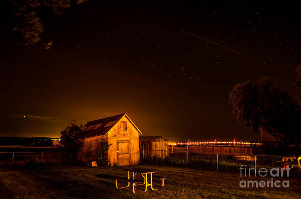Barn Art Print featuring the photograph Starry Starry Night by Patricia Trudell