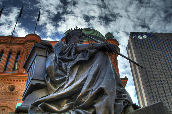 Hdr Art Print featuring the photograph Statue by John Keyser