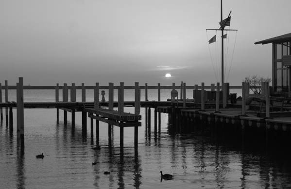 Water Art Print featuring the photograph Sunrise At The Harbor by Gregory Lafferty