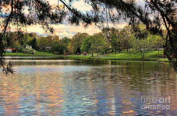 Tennessee Print featuring the photograph sunset lake I by Chuck Kuhn