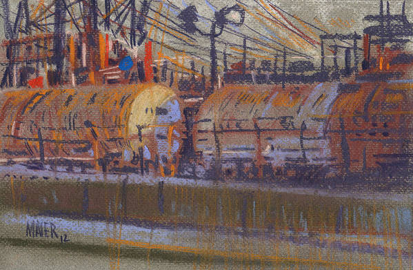 Chemical Art Print featuring the painting Tanker Fill Point by Donald Maier