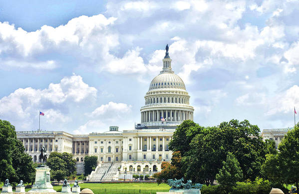 Capital Building Art Print featuring the photograph The Capitol Building by Sandra Welpman