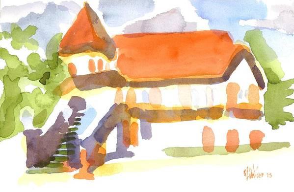 Church On Shepherd Street V Art Print featuring the painting The Church On Shepherd Street V by Kip DeVore
