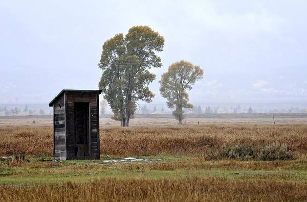 Jackson Hole Art Print featuring the photograph The Country Outhouse by Image Takers Photography LLC - Laura Morgan