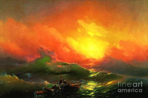 Pd Art Print featuring the painting The Ninth Wave by Pg Reproductions