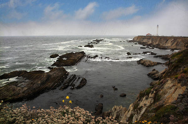 Point Arena Lighthouse Art Print featuring the photograph The Ocean's Call by Laurie Search