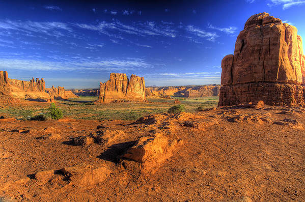 Arches National Park Art Print featuring the photograph The Organ-2 by Fred Adsit