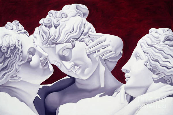 Three Art Print featuring the sculpture Three Graces by Catherine Abel