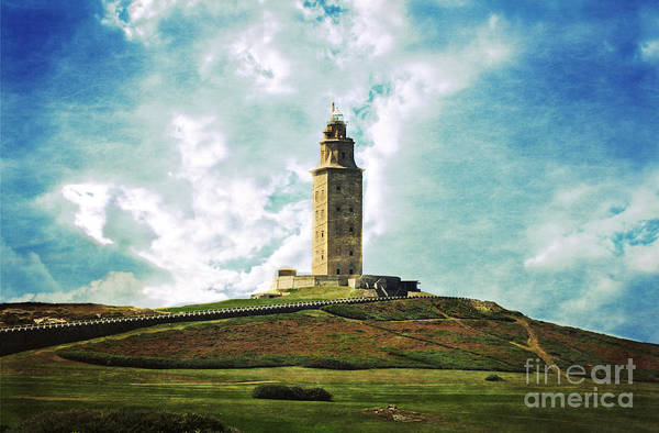 Tower Of Hercules Art Print featuring the photograph Tower Of Hercules La Coruna by Mary Machare