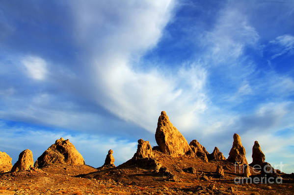 Trona Art Print featuring the photograph Trona Pinnacles California by Bob Christopher