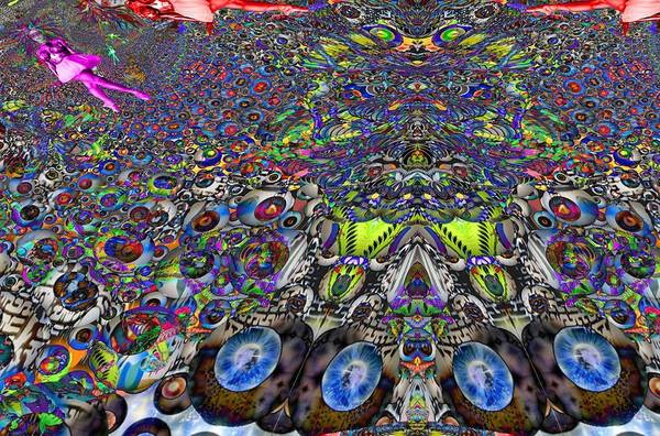 <a> Abstract Art Print featuring the digital art Tunnel Dance 2 by Jason Saunders