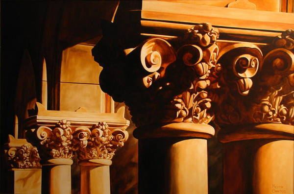 Corinthian Columns Art Print featuring the painting Turn Of The Century by Keith Gantos