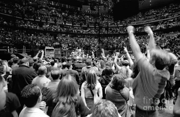 Bono Art Print featuring the photograph U2-crowd-gp13 by Timothy Bischoff