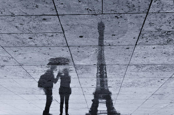 Eiffel Tower Art Print featuring the photograph Under The Rain In Paris by