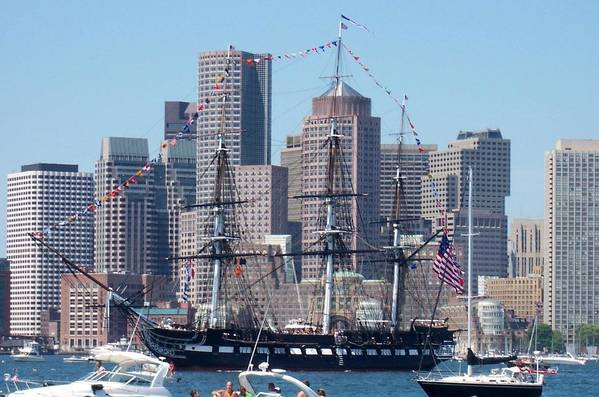 Ship Art Print featuring the photograph Uss Constitution by Catherine Gagne