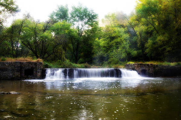 Valley Art Print featuring the photograph Valley Forge Pa - Valley Creek Waterfall by Bill Cannon